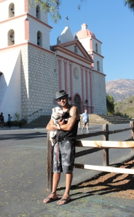 Mission de Santa Barbara avec Timo