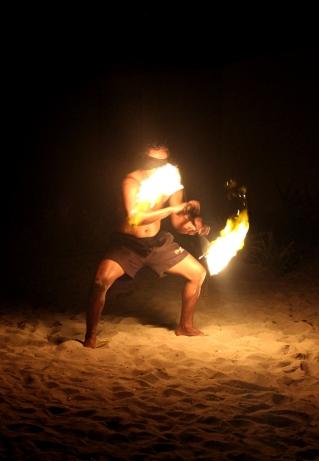 Spéctacle de danse traditionnelle Fidjienne