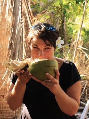 dégustation de noix de coco
