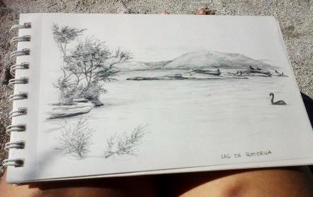 Depuis le lac