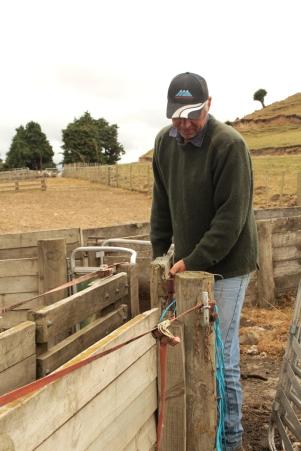 Geoff prépare les enclos
