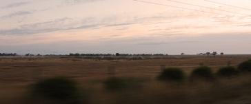 levé du soleil, en route pour travailler