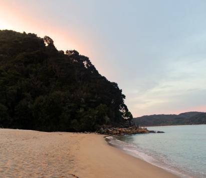 nuit 2 : coucher de soleil depuis le campement