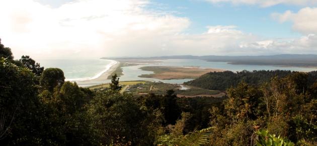 Vue sur Okarito Lagoon