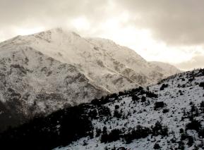 Montagnes enneigé depuis Queenstown Hill