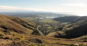 Christchurch vue depuis Castle Rock