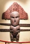 Statue Maori - musée de Canterbury