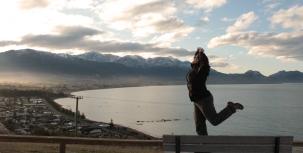 Vue depuis la péninsule de Kaikoura
