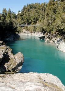 Le bleu tourquoise des Gorges d'Hokitika