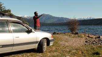 Hilal au lac Kaniere