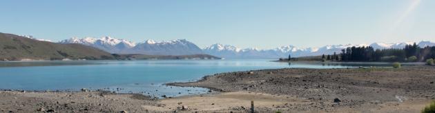 Panorama sur le lac Tekapo