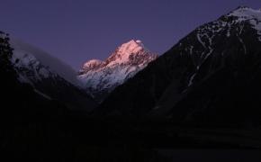 Couché du soleil sur Mont Cook