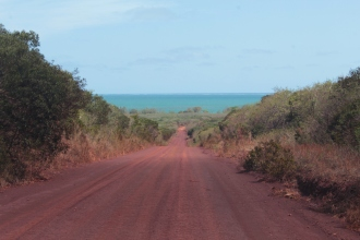 en route pour la plage de Pinedai