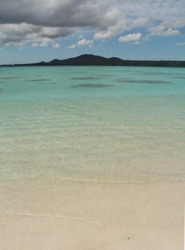 l'île des pins vue depuis l'îlot brosse