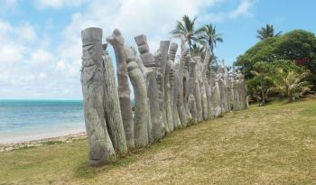Baie de Saint Maurice et ses statues
