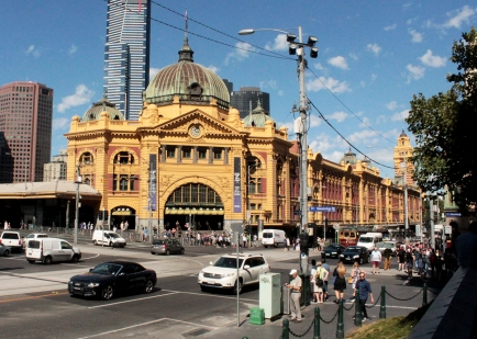 Station de train - promenade dans Melbourne