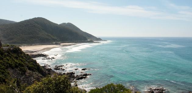 en route sur la Great Ocean Road