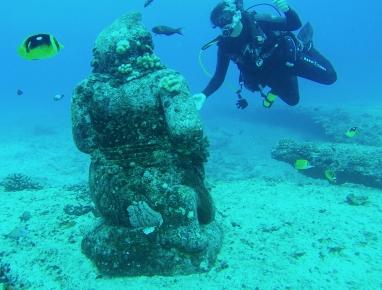 Statue - plongée