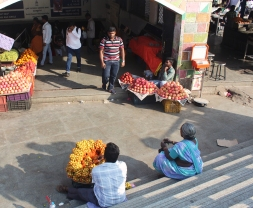 vendeur dans les rues de Bangalore
