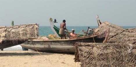 Pêcheurs, plage de Kovalam