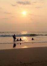 coucher du soleil à Kovalam