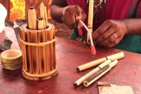 Fabrication de stylo en Bambou - Uravu